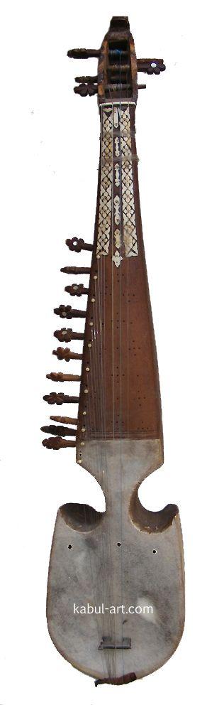 Afghan musikinstrumen Rubab Nr:8