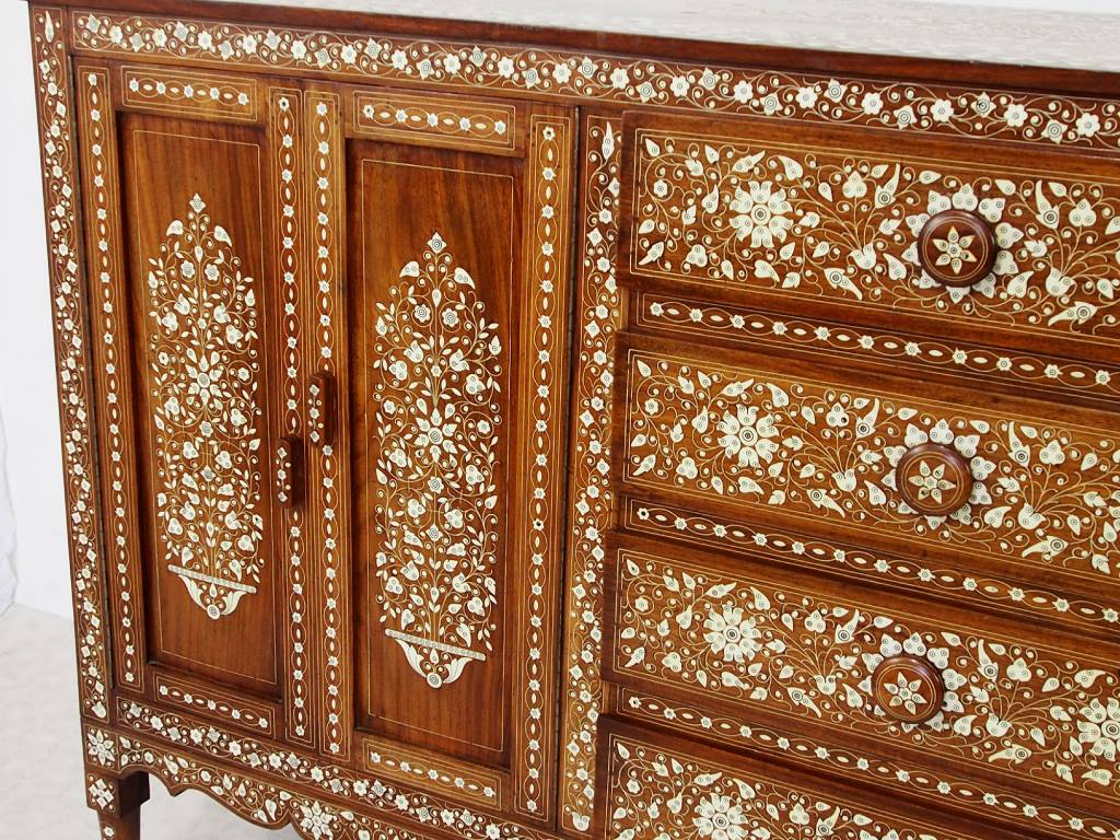 antik indien Anglo Cabinet Sideboard