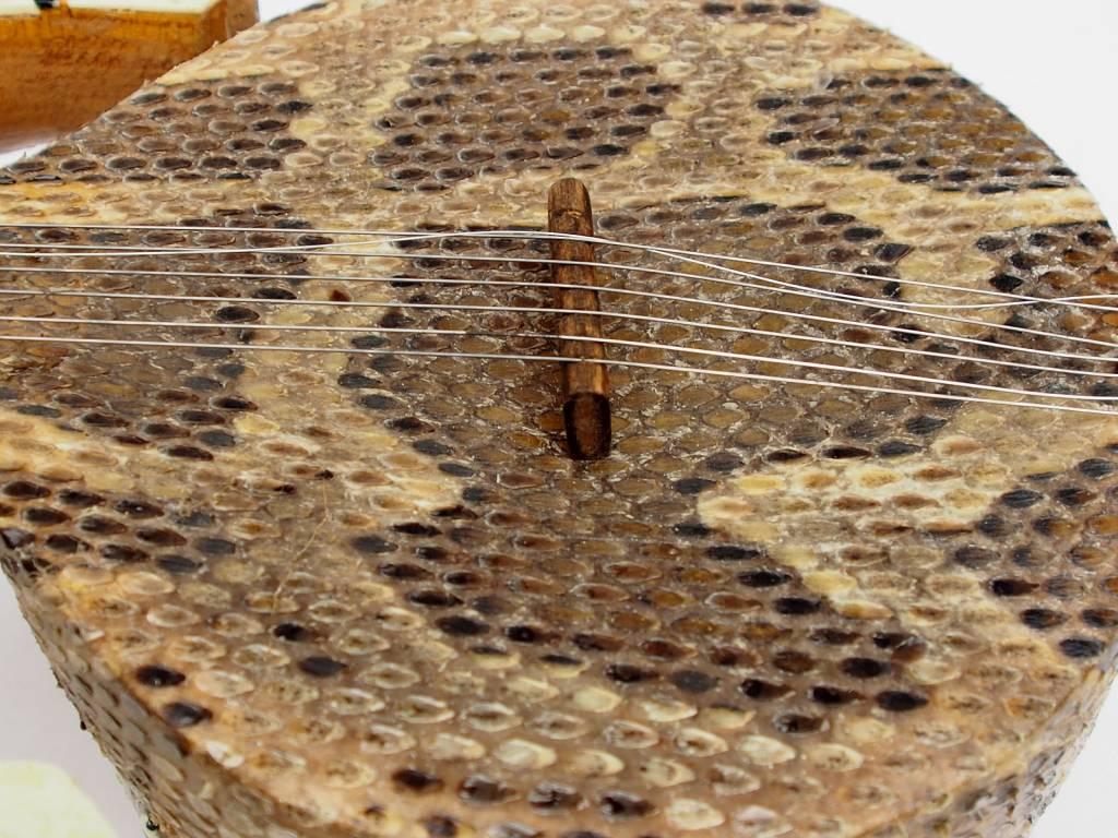 Xinjiang Uyghur Musical Instrument Rawap Schlangenhaut