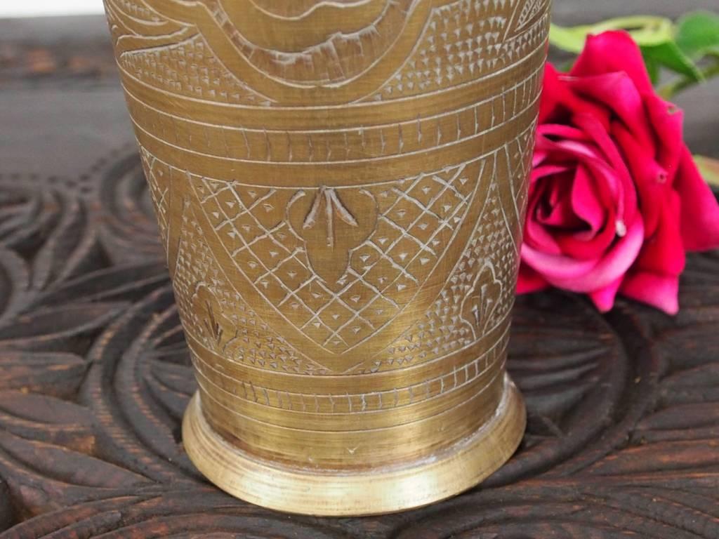 antike Messing Blumenvase Becher Nr:16/A