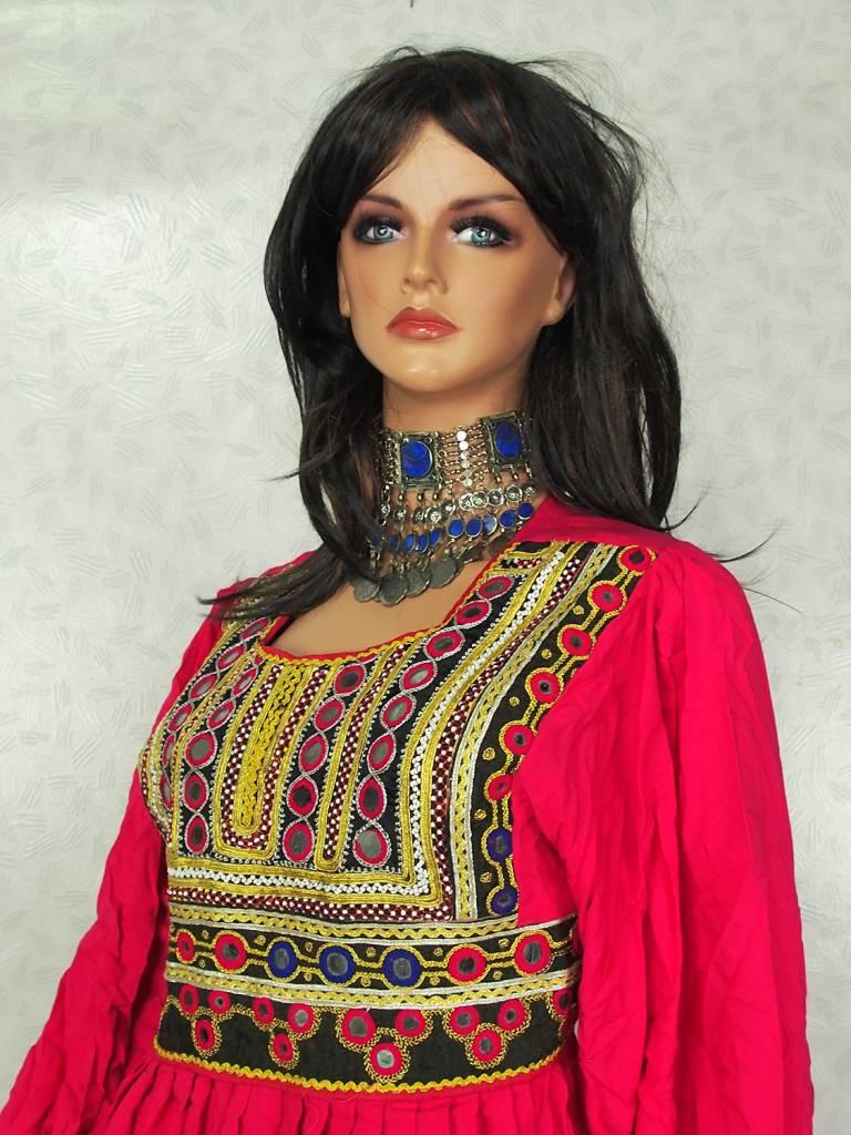 Afghani Nomaden Kleid  Tracht Pink/5