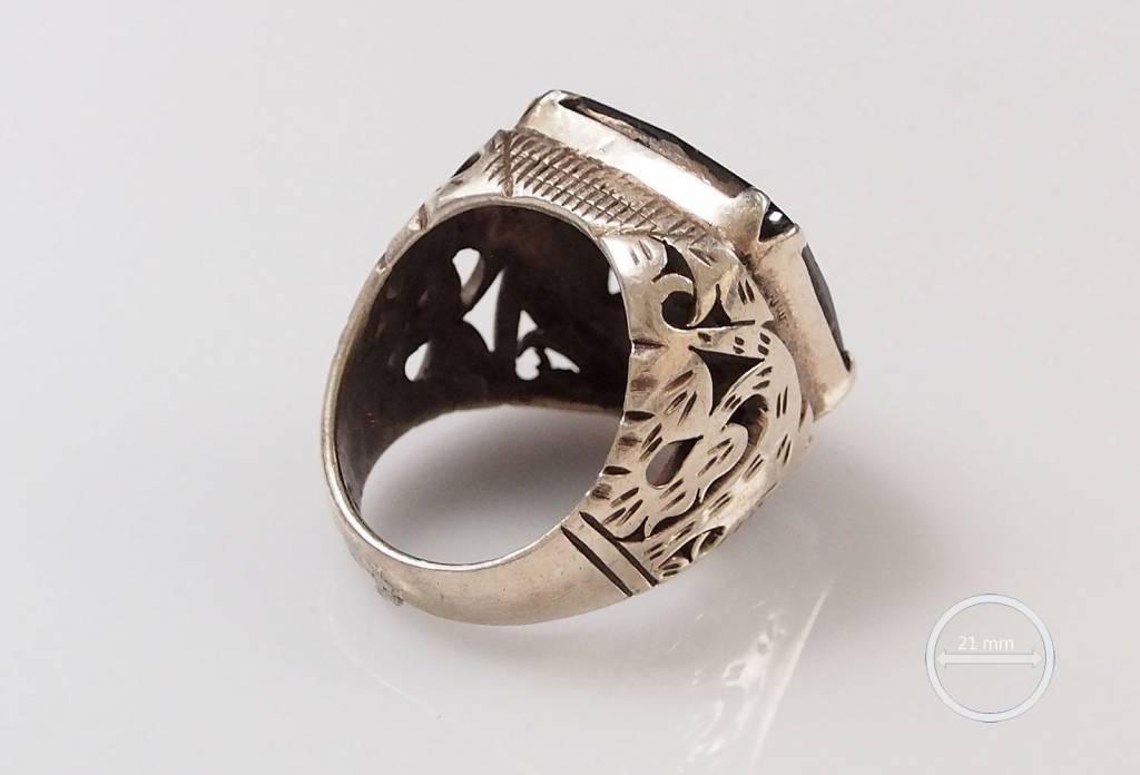 antik  hematite ring Nr:55