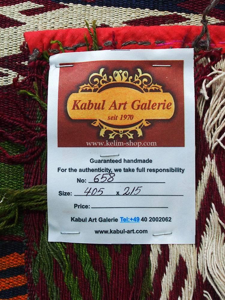 405x215 Afghan Gadjari kelim Nr.658