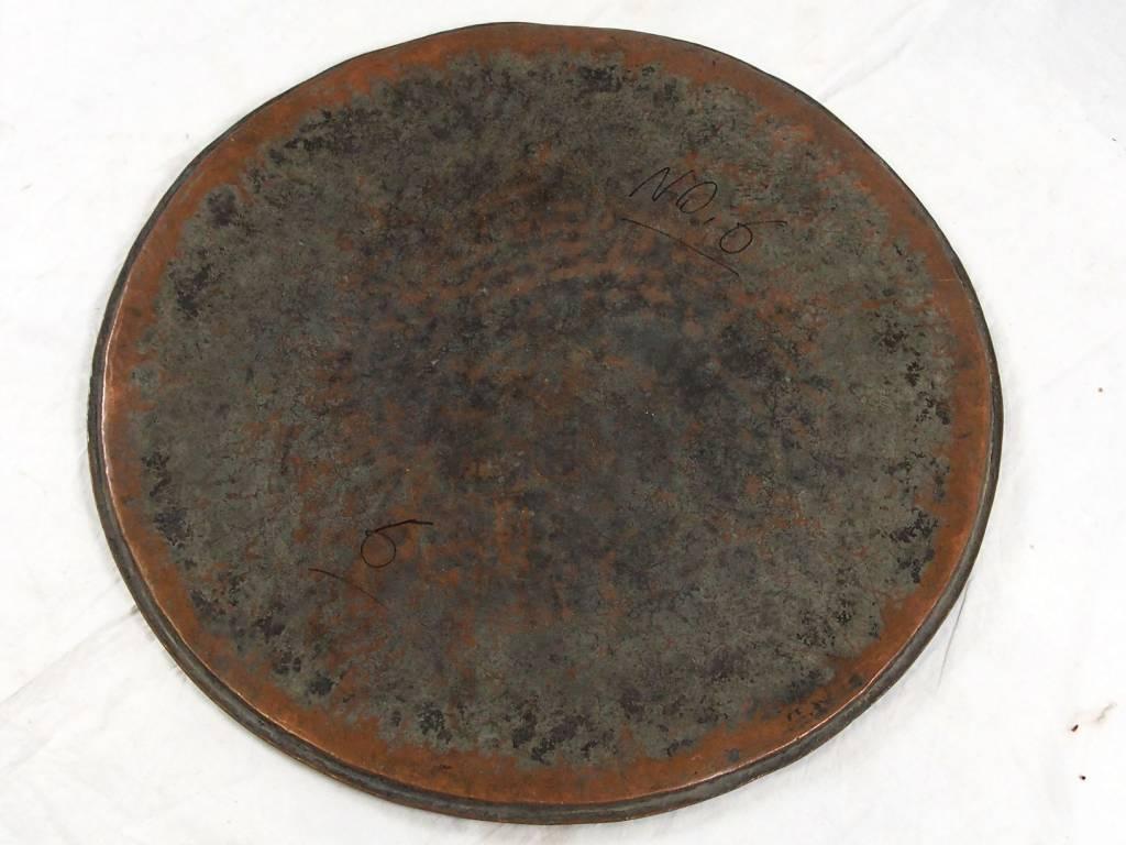 antik Massiv osmanische Kupfer tablett No:6
