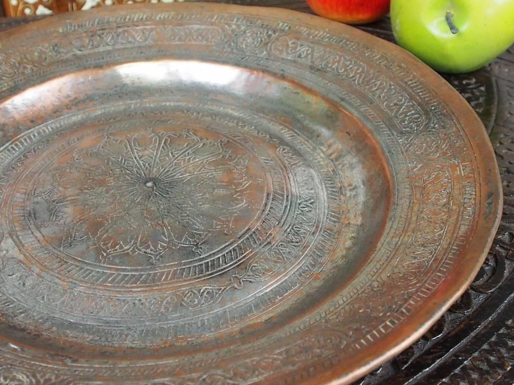 31 cm antik Kupfer Teller No:K22