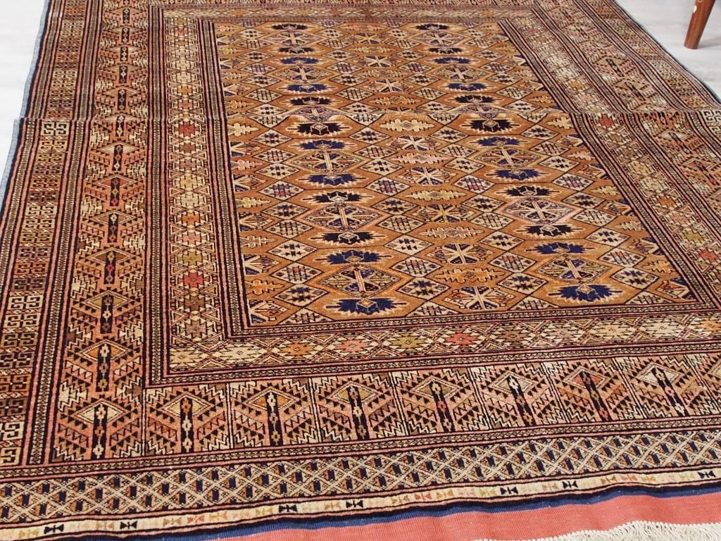 Bukhara 185x125 cm  Seiden Teppich aus Afghanistan Nr:86