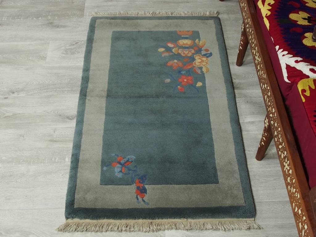 Bukhara  128x71 cm alte chinesische in antikem Stil Teppich Brücke chinese rug No:8