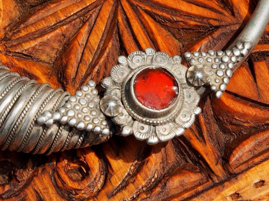 Silber Spiral-Halsreif  Afghanistan Nuristan Nr-17/11