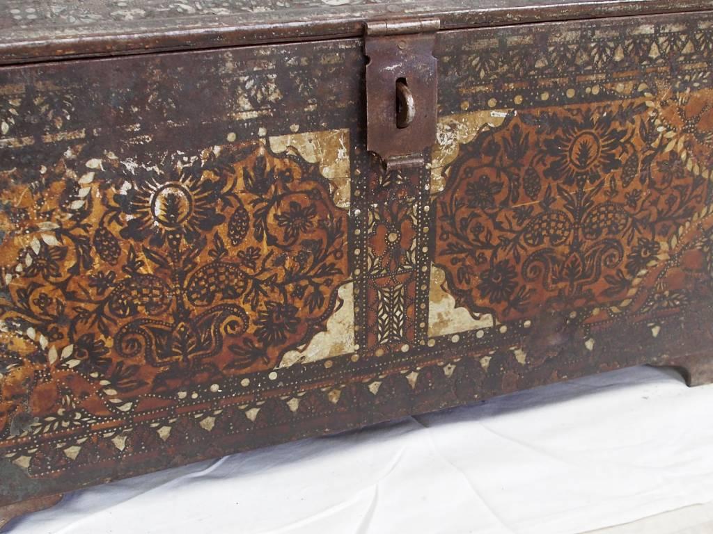 Antike Kasse Truhe Tresor Safe Geldschrank Russland antique strongbox cash box