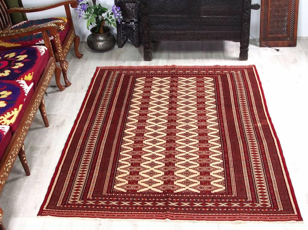 Bukhara 203x159 cm super-feine beste Qualität König Zahir shahi Herati Turkman orient Teppich Afghanistan Nr:507