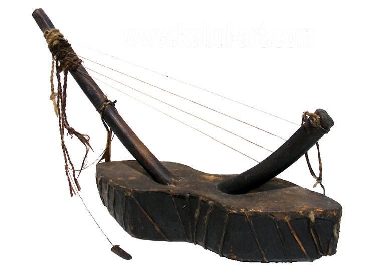 antik orient exotische Musikinstrument afghanistan Nuristan kohistan harp waj wuj musik Nr:KBL