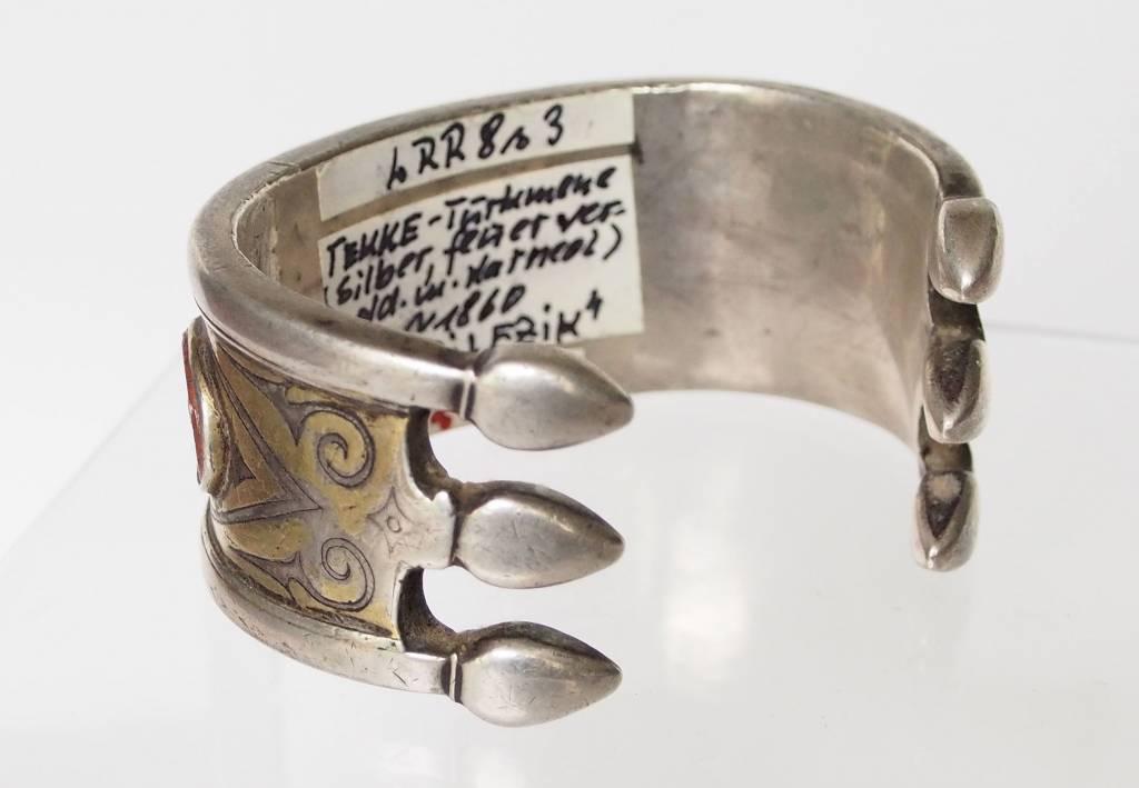 Antik Turkmenische Tekke - Silber Armreif  (Bilezik) Nr:17/484