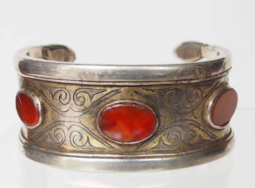 Antik Turkmenische Tekke - Silber Armreif  (Bilezik) Nr:17/486