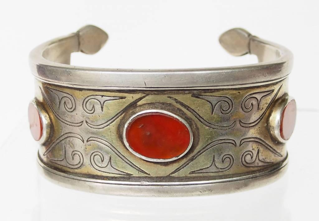 Antik Turkmenische Tekke - Silber Armreif  (Bilezik) Nr:17/487