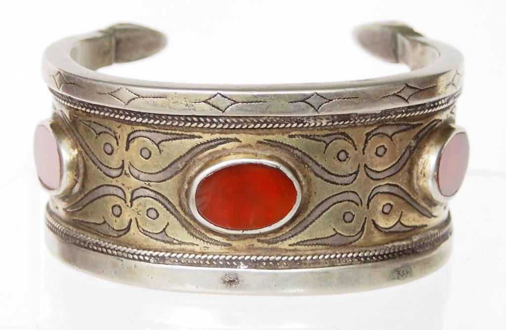 Antik Turkmenische Tekke - Silber Armreif  (Bilezik) Nr:17/488