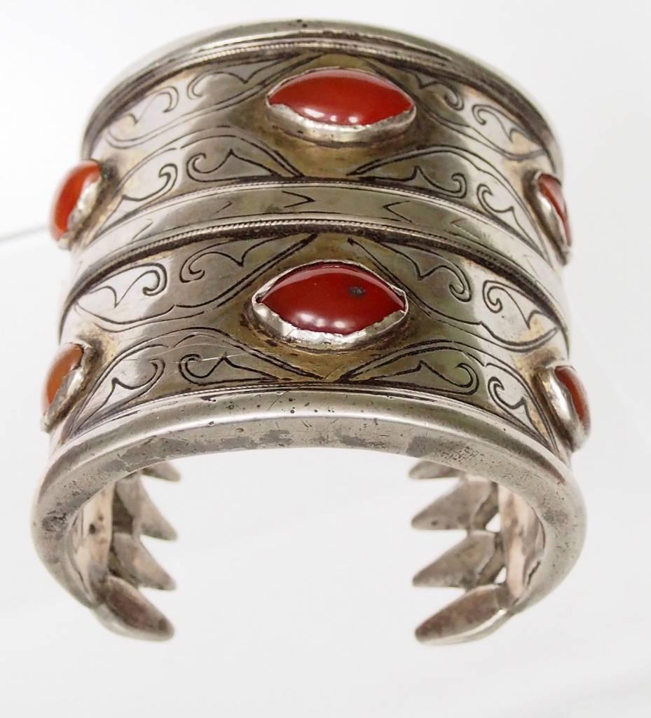 Antik Turkmenische Tekke - Silber Armreif  (Bilezik) Nr:17/495