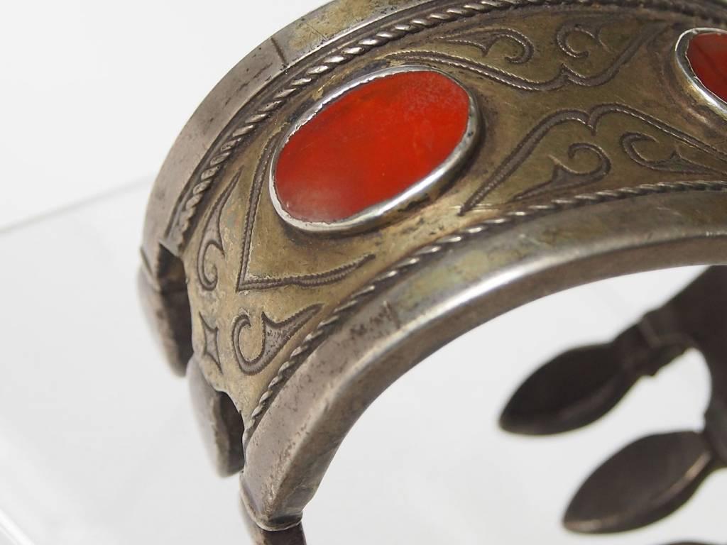 Antik Turkmenische Tekke - Silber Armreif  (Bilezik) Nr:17/503