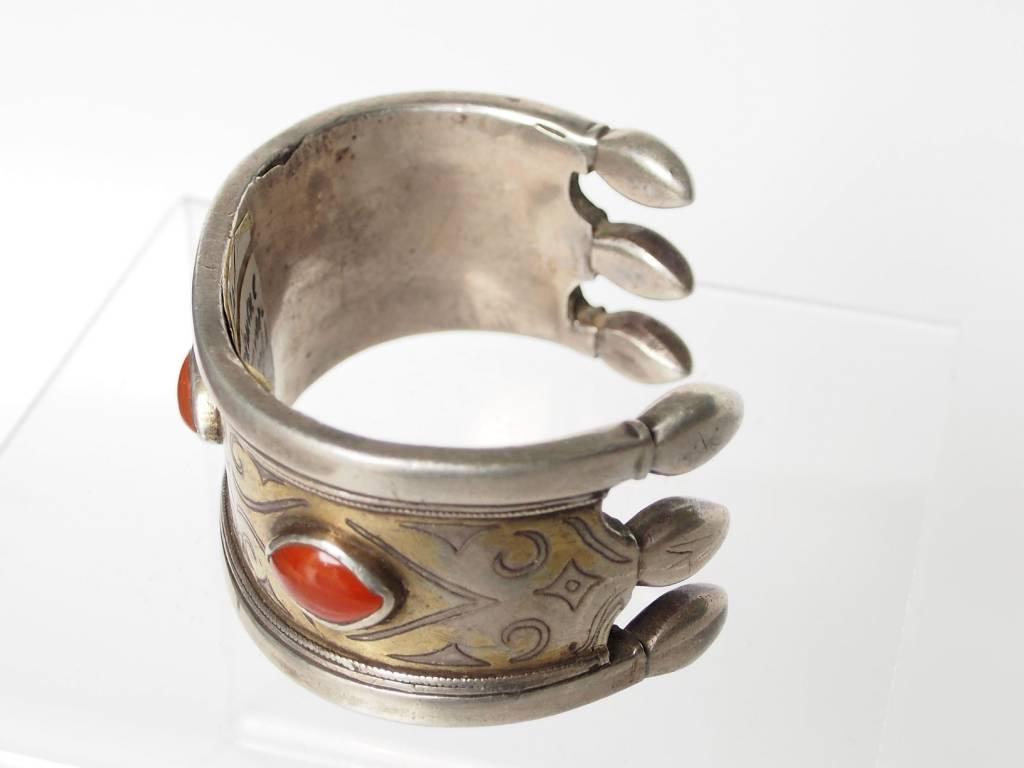 Antik Turkmenische Tekke - Silber Armreif  (Bilezik) Nr:17/504