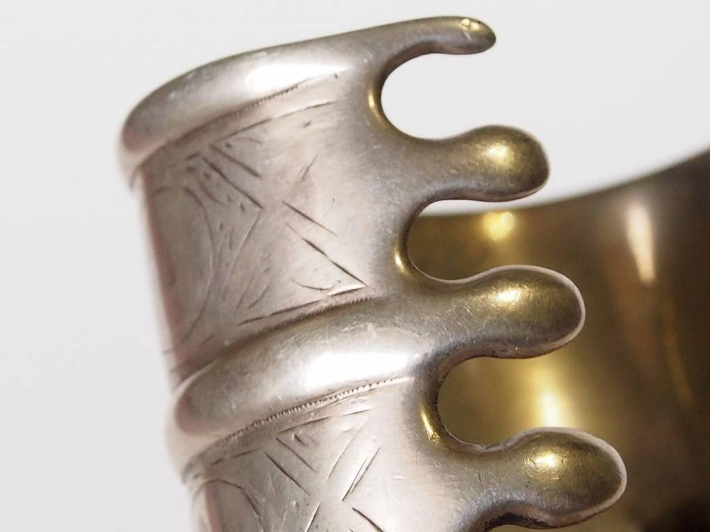 Antik Turkmenische ersari - Silber Armreif  (Bilezik) Nr:17/  364