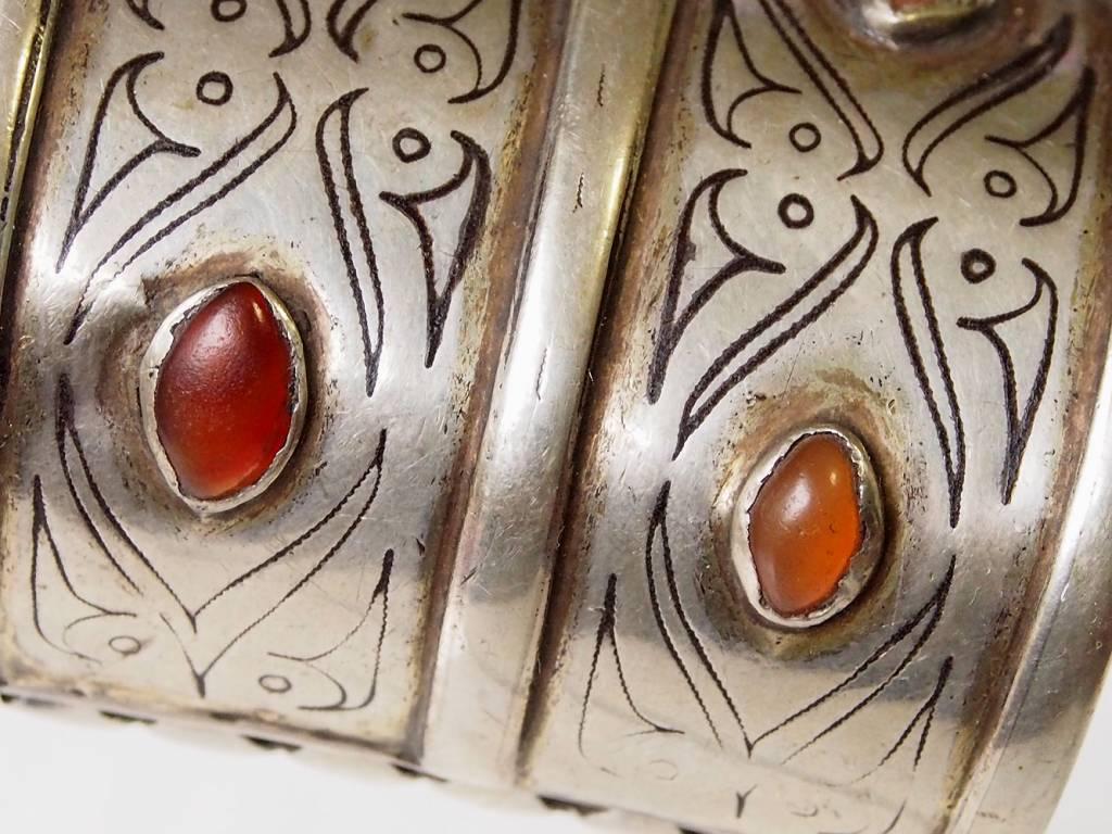 Antik Turkmenische Tekke - Silber Armreif  (Bilezik) Nr:17/  365