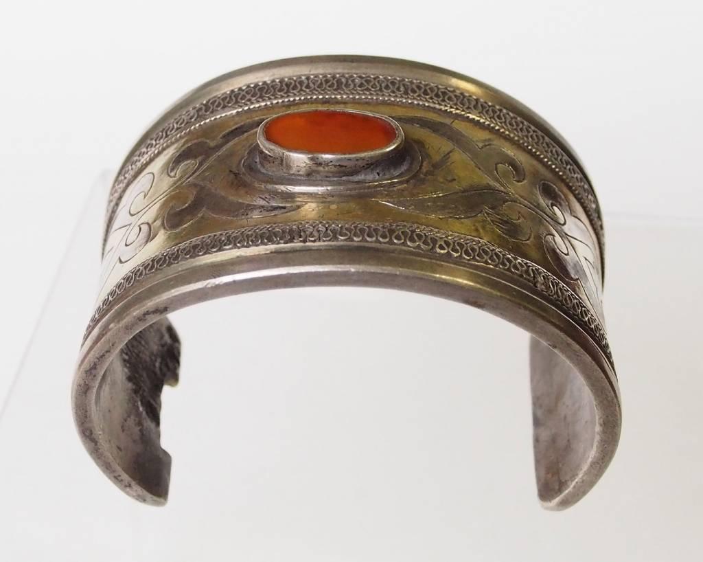Antik Turkmenische Tekke - Silber Armreif  (Bilezik) Nr:17/ 366