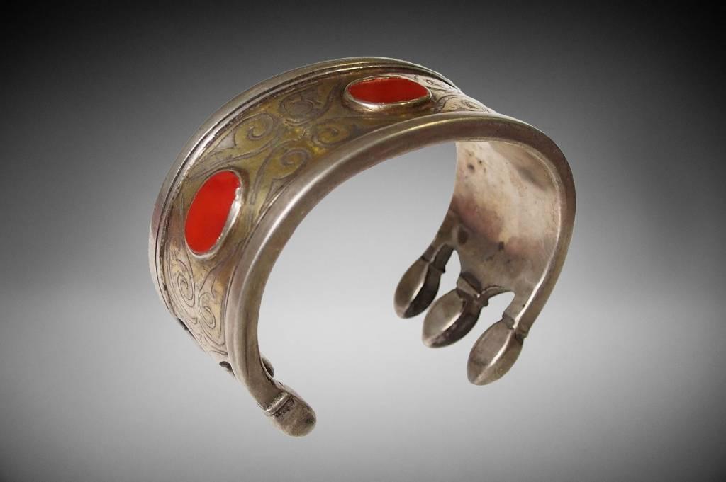 Antik Turkmenische Tekke - Silber Armreif  (Bilezik) Nr:17/  371