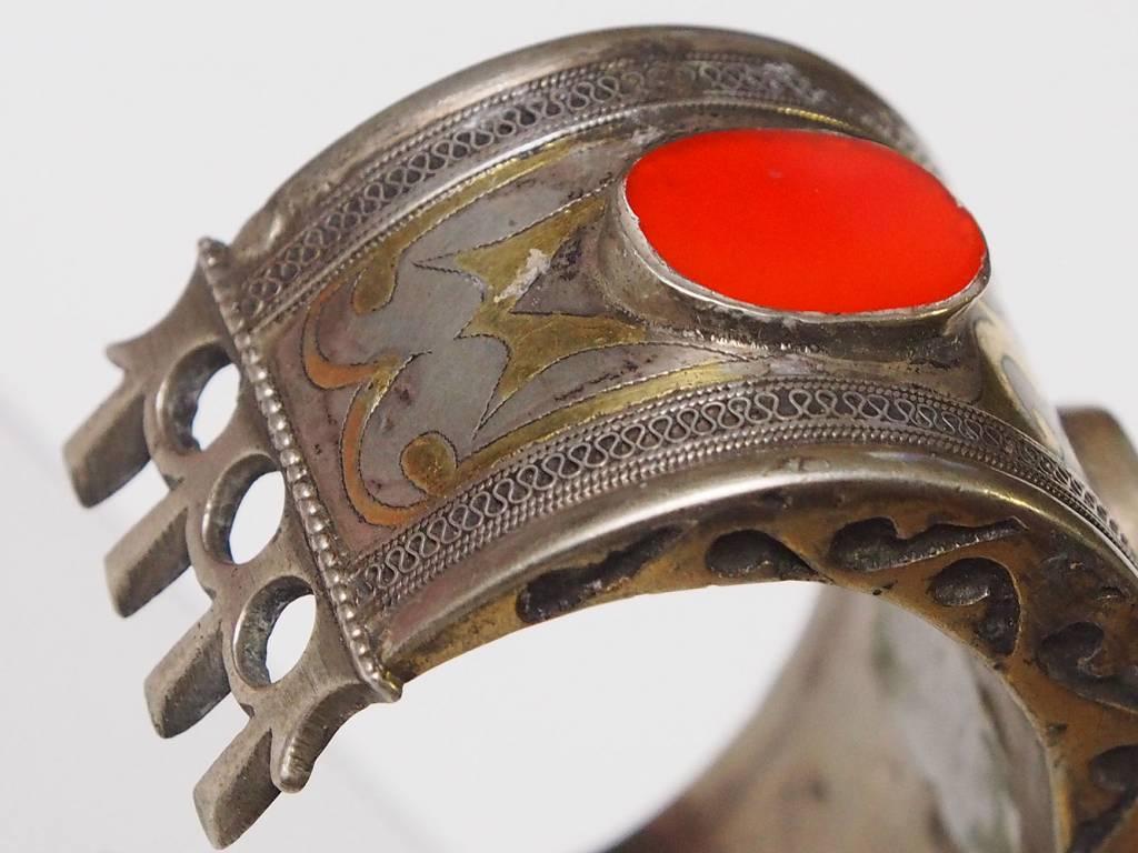 Antik Turkmenische Tekke - Silber Armreif  (Bilezik) Nr:17/  372