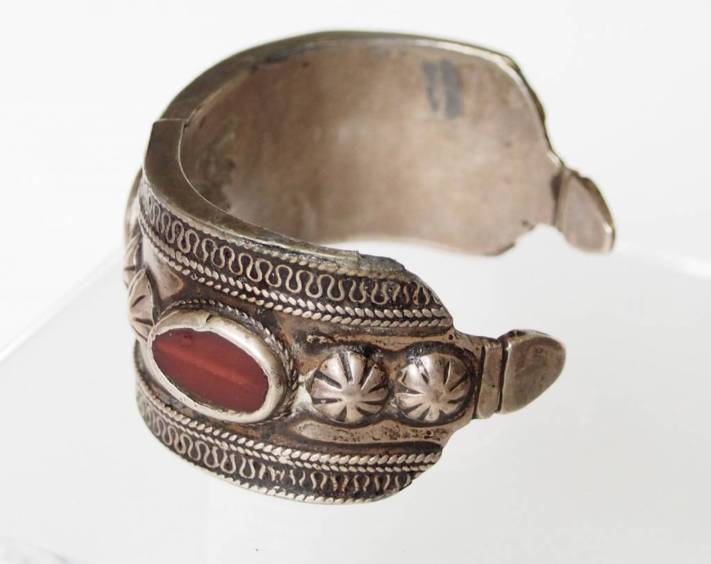 Antik Turkmenische ersari - Silber Armreif  (Bilezik) Nr:17/379