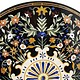 122 cm Marmor Pietra Dura Esstisch Tisch Florentiner Mosaik Marble Inlay table