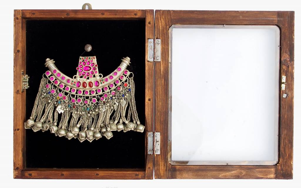 Wandvitrine Hängevitrine Afghanistan antike nomaden Schmuck Orient Geschenk 17/7