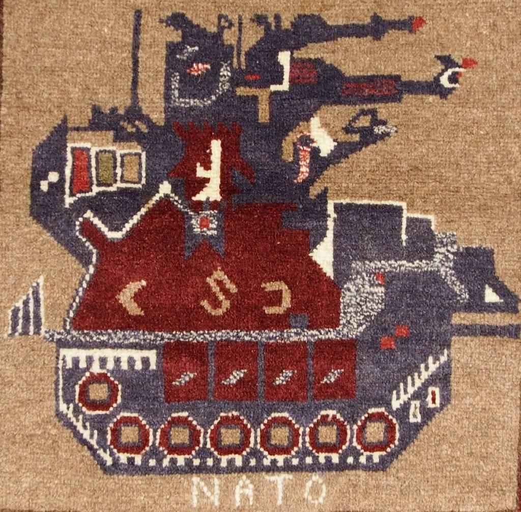 143x86 cm NATO ISAF Afghanistan Kerigteppich warrug Nr:3