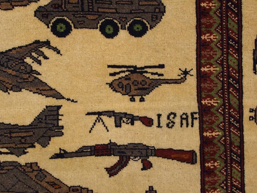 122x88 cm NATO ISAF Afghanistan Kerigteppich warrug Nr:6