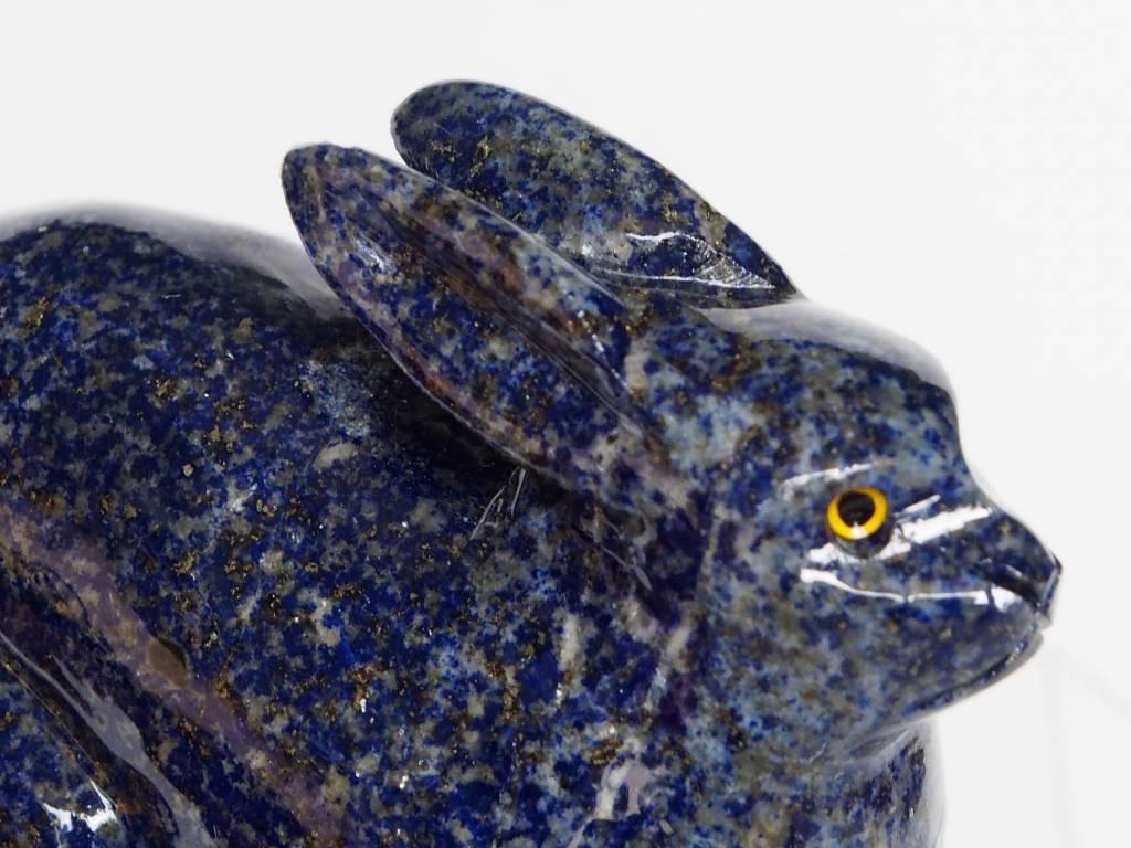 Extravagant Lapis lazuli Hase tier figur briefbeschwere Rabbit Afghanistan N:389