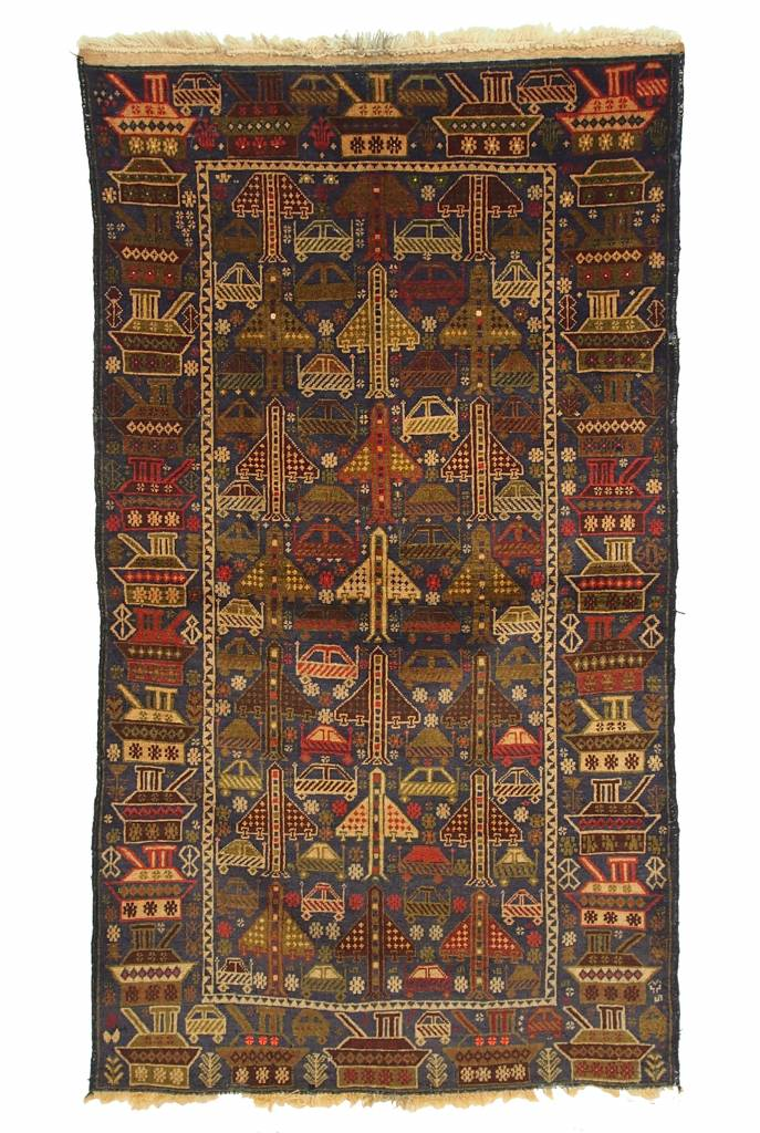 genuine old nomadic Afghan Warrug Russian invasion period of Afghanistan No:42