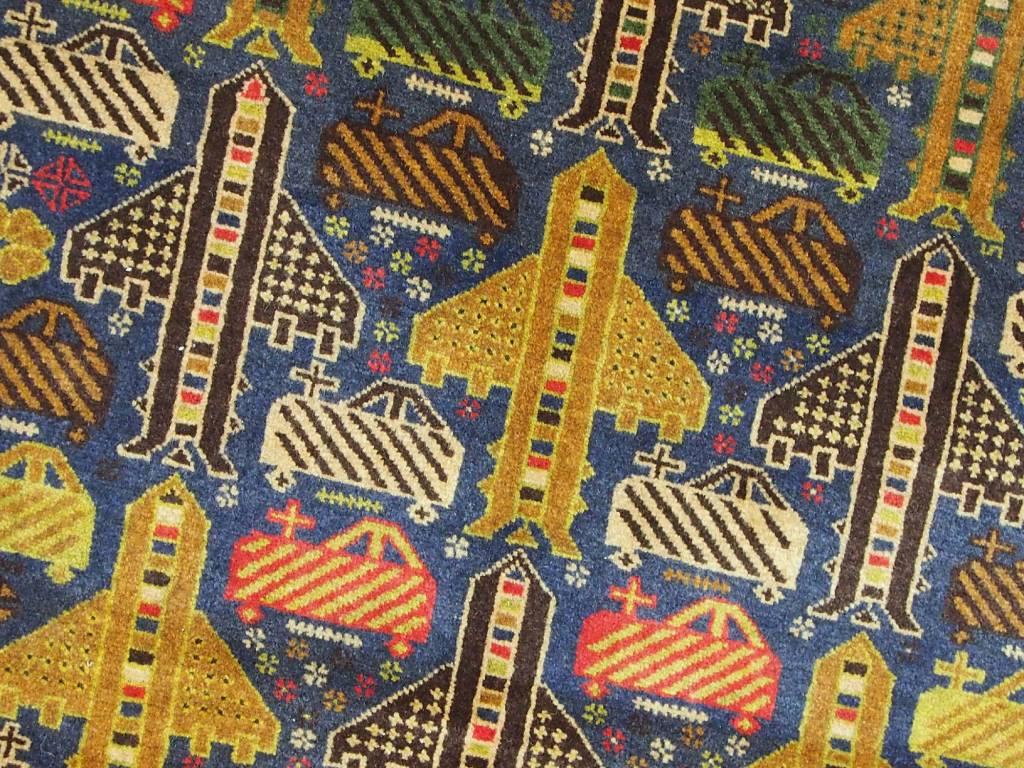 209x118 cm originell old Afghan Warrug Kriegteppich Afghanistan orientteppich N:17/9