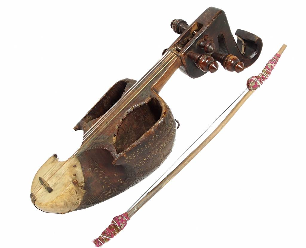 Antik Afghan musikinstrumen Ghichak HH/1