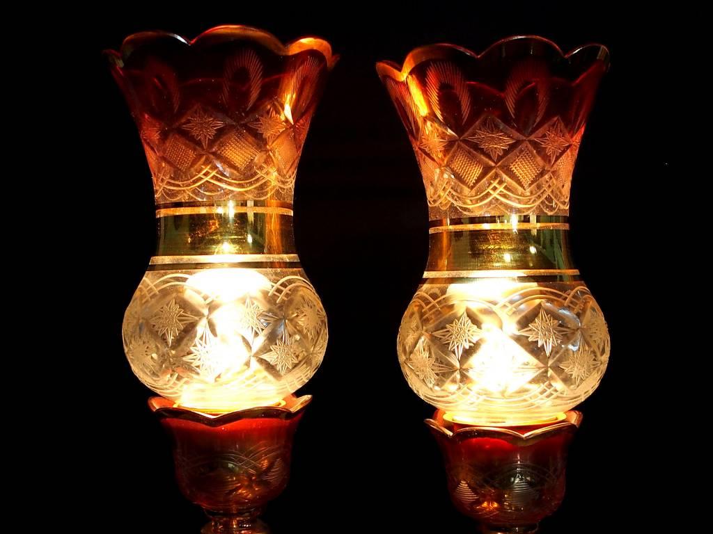 Antike persische qajar islamische Glas Kristall böhmische Kronleuchter Lampe N:A
