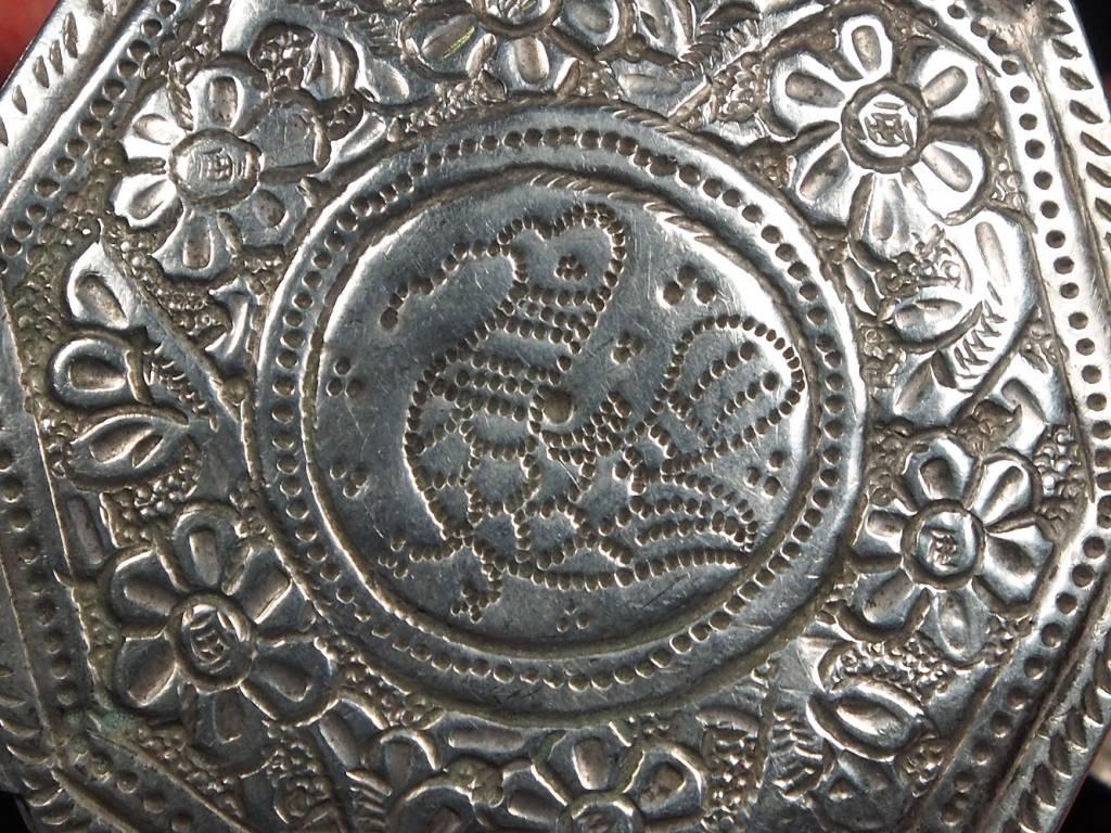 Antike 19. Jh. Islamische Amulett Box Halskette Talisman Silber Anhänger Schmuck Koran tasche Bazuband Oberarm Amulette Afghanistan 18/A