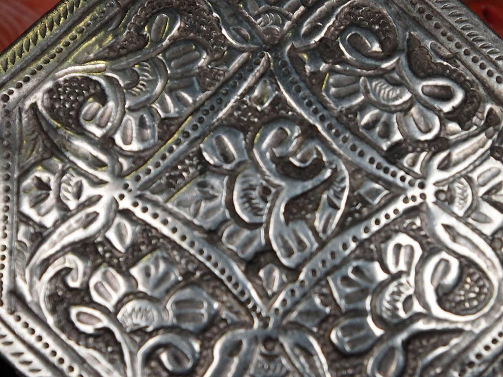 Antike 19. Jh. Islamische Amulett Box Halskette Talisman Silber Anhänger Schmuck Koran tasche Bazuband Oberarm Amulette Afghanistan 18/D