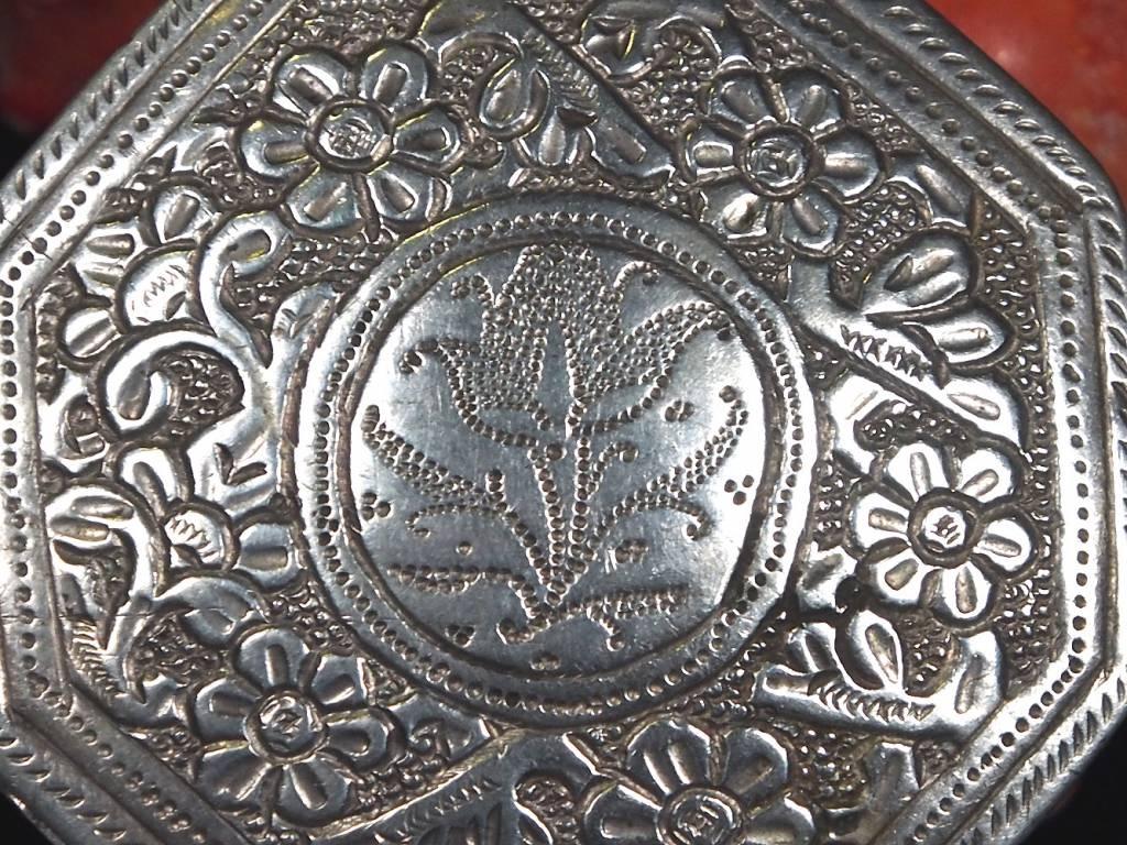 Antike 19. Jh. Islamische Amulett Box Halskette Talisman Silber Anhänger Schmuck Koran tasche Bazuband Oberarm Amulette Afghanistan 18/G