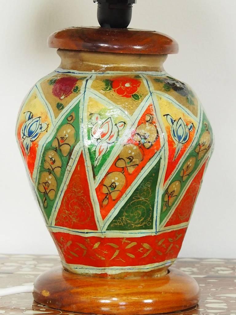orientalische handbemalte Lampe Kamelleder Tischlampe Nachttischlamp Tischleuchte Nachtlampe Stehleuchte Handarbeit aus Multan Pakistan 18/ 11