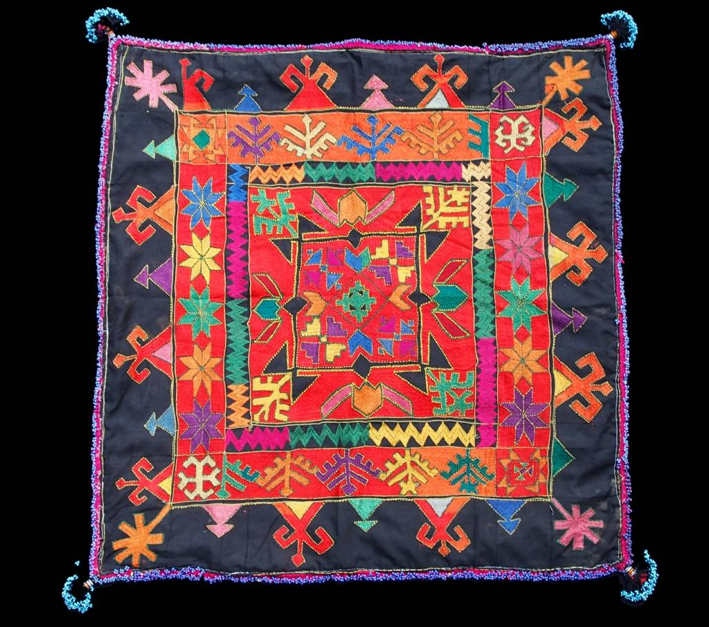 antique  Swat Valley Kohistan silk embroidery  Tray cloth No:18/5