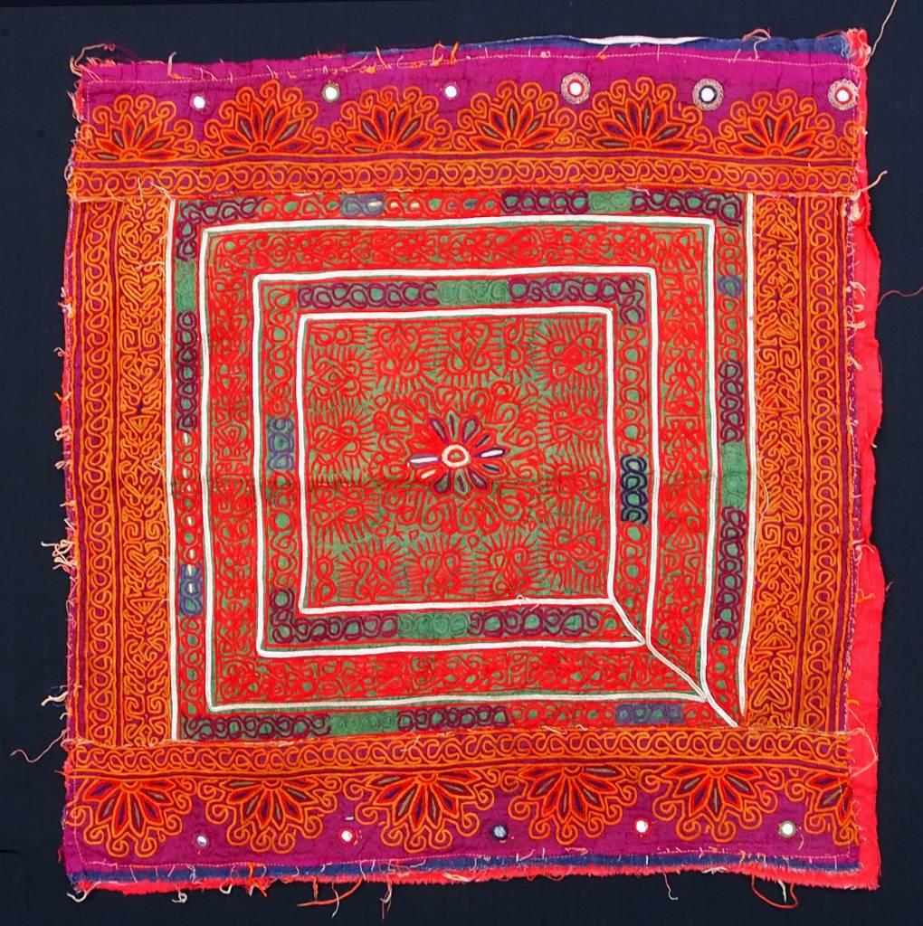 antique  Katawaz  silk embroidery  Tray cloth No:18/26