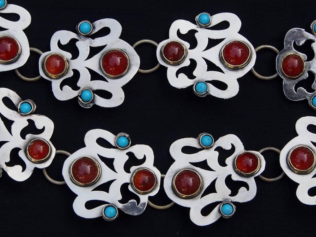 Ethnic Turkmen tribal Nickel silver wedding belt Gürtel No:A