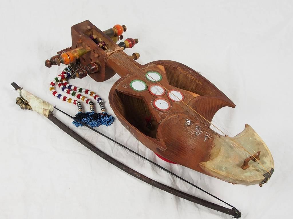 Antik Afghan musikinstrumen Ghichak 18/3