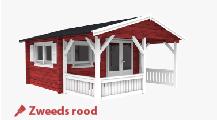 Tuinhuis Zweeds rood