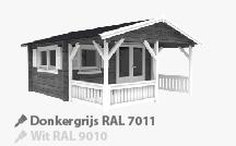 Tuinhuis Donkergrijs