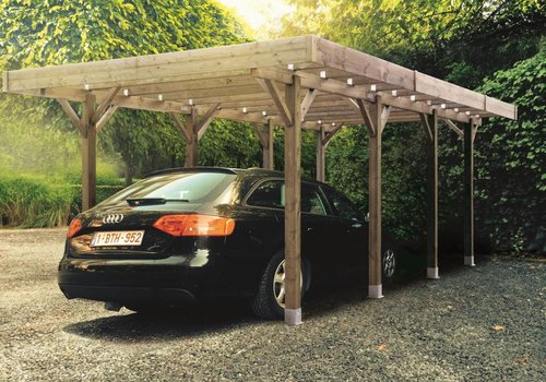 Solid Solid Carport S7721 Modulair