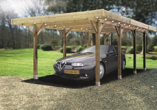 Solid Solid Carport S7723 Modulair