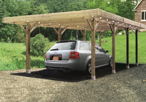 Solid Solid Carport S7724 Modulair